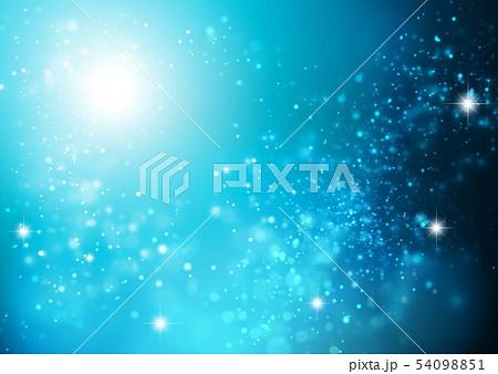 青色キラキライメージ 54098851