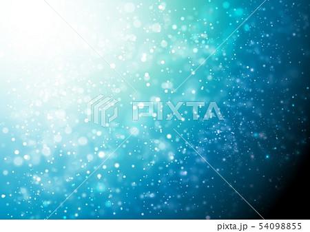 青色キラキライメージ 54098855