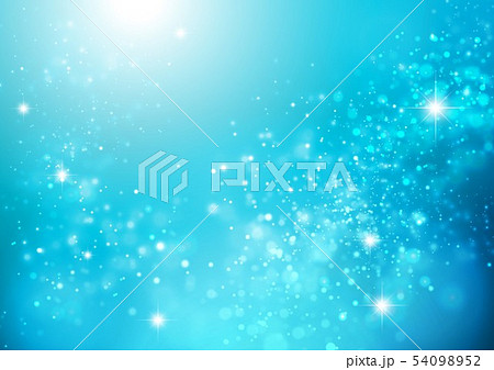 青色キラキライメージ 54098952