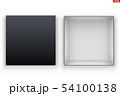 Blank of Open Black Shoe Box 54100138