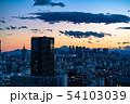 《東京都》富士山を望む東京の夜景 54103039