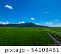 真壁側からの筑波山と雲、初夏青空 54103461