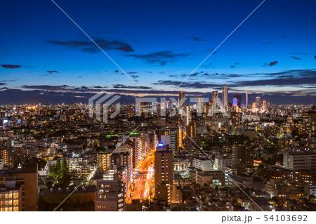 《東京都》東京の夜景・池袋方面 54103692