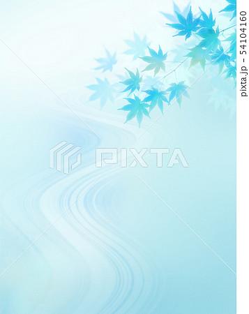 背景-和-和風-和柄-和紙-紅葉-清流-夏-水色 54104160