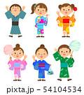 夏祭り 子供たち セット 54104534