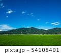 新緑の加波山、麓の水田 54108491