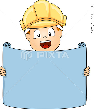 Kid Boy Engineer Illustration 54109819