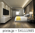 modern luxury yellow bedroom suite and bathroom 54111985