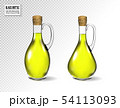 Small bottle of olive oil with cork stopper isolated in front of transparent background 54113093