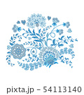 Ornate embroidery ornament with Fantastic flowers. Vector illustration. 54113140