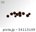 Black pepper isolated on transparent background. Spices. 54113149