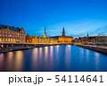 Night view on Christiansborg Palace in Copenhagen 54114641