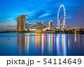 View of Singapore city skyline with landmark 54114649