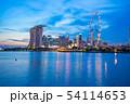 Singapore city skyline at twilight in Singapore 54114653