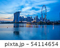 Singapore city skyline at night in Singapore 54114654