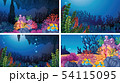 Set of underwater coral scenes 54115095