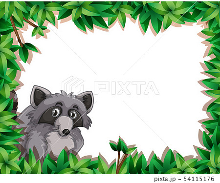 Raccoon on note template 54115176