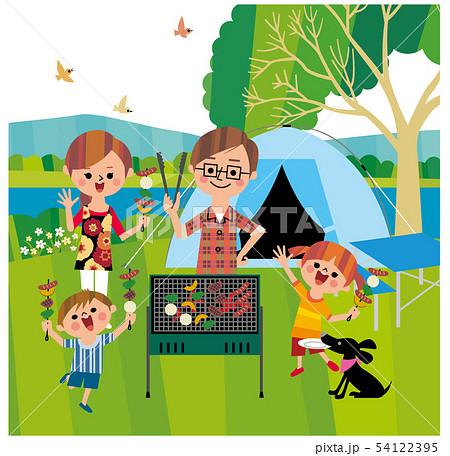 家族でキャンプ 54122395