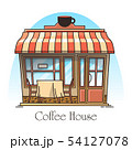 Coffee or tea house building. Cafeteria, cafe 54127078