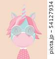 Cute unicorn. 54127934