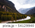 incredible Landscape valley of the Altai mountains with trees, hills and river 54129940