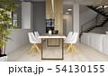 Interior of modern dining room 3D rendering 54130155