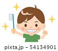 歯磨きする男の子 54134901