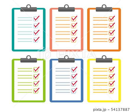 バインダー ファイル 用紙 checklist チェックリスト リスト 54137887