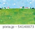 草原と家と木の景色 54140073