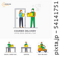 Delivery service, mail, courier online ordering 54141751