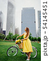pretty girl with bicycle 54145451