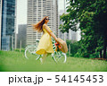 pretty girl with bicycle 54145453