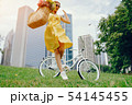 pretty girl with bicycle 54145455