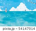 油彩の海と入道雲の景色 54147014