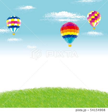 芝生と気球 背景イラスト 54154908