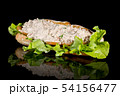 TUNA MAYO BAGUETTE with reflection isolated on 54156477