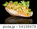 CHICKEN CURRY BAGUETTE with reflection isolated on 54156478