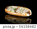 PHILLY CHEESE STEAK with reflection isolated on 54156482