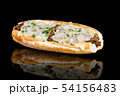 PHILLY CHEESE STEAK with reflection isolated on 54156483