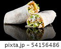 CHICKEN SALAD WRAP with reflection isolated on 54156486