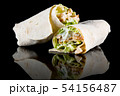 CHICKEN SALAD WRAP with reflection isolated on 54156487