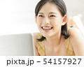 若い女性 女性 アジア人の写真 54157927