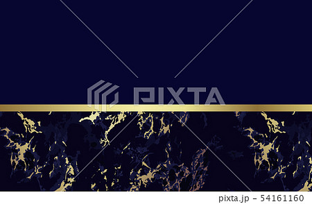 Dark blue marble background with gold. Vector 54161160