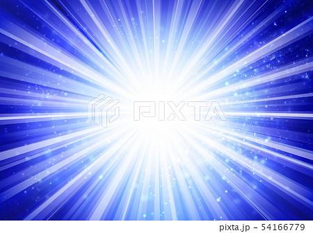 青色キラキライメージ放射状 54166779