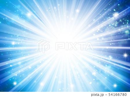 青色キラキライメージ放射状 54166780