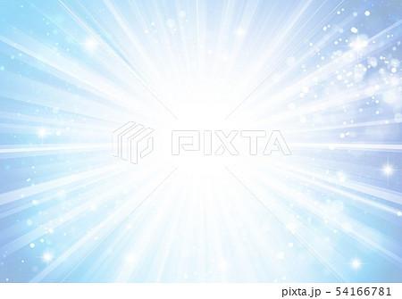 青色キラキライメージ放射状 54166781