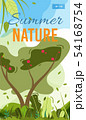 Summer Nature Mobile Cover or Poster Template 54168754