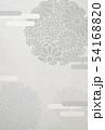 喪中-はがき-雪輪-菊-背景素材-和紙 54168820