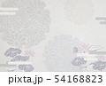 喪中-はがき-雪輪-菊-蓮-背景素材-和紙 54168823