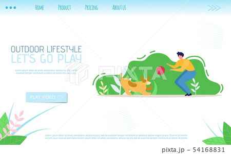 Outdoor Lifestyle Flat Landing Page Calls Go Play 54168831